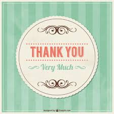 thank you vintage card with ornaments vector free