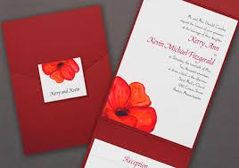 Red Wedding Invitations Pantone Aurora Red Wedding Invitations Things Festive Weddings