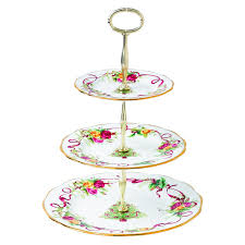 tier cake stand country roses christmas tree 3 tier cake stand