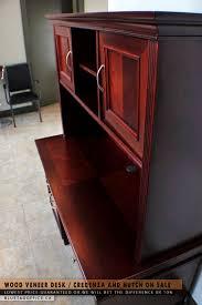 Wooden Desks For Sale 12 Best Wood Veneer Desk Credenza And Hutch On Sale Images On
