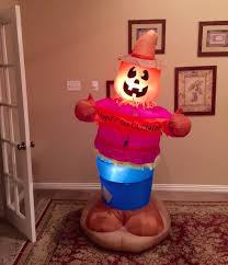 image gemmy prototype halloween pumpkin scarecrow inflatable