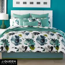 New York Bed Set Midori Floral Comforter Bedding From J By J New York