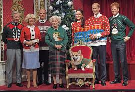 royal family wears christmas sweaters at madame tussauds