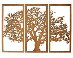 3 panel wood wall tree of 3d cherry 3 panel wood wall