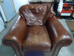 Upholstery Repair Milwaukee Worn Leather Furniture Restoration Worn Leather Chair Restoration