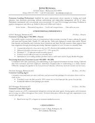 Mortgage Loan Processor Resume Sample by Free Resume Templates Professional Resumes Examples Skills To