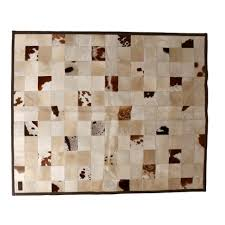 cowhide rugs brown and white zulucow
