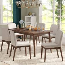 mid century modern dining table set mid century modern kitchen dining room sets you ll love wayfair