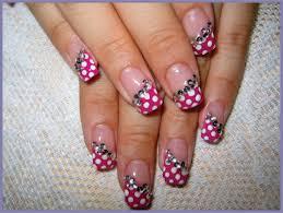 pink black white nail design images nail art designs