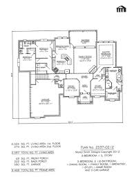 4 bedroom 1 story house plans plan no 2597 0212