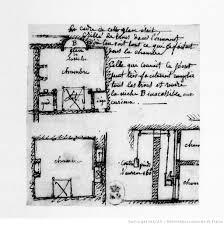 plan d une chambre plan d une chambre à coucher dessin jean jacques lequeu