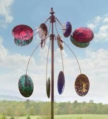 Garden Spinners And Decor Blue Sky Lighthouse Garden Wind Spinner Metal Yard Art And