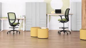 Sit Stand Office Desk Sit To Stand Desk Kimball Office Working Spaces
