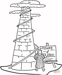 tower babel coloring free printable coloring pages