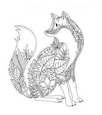 fox coloring pages adults google coloring pages
