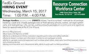 Fedex Ground Map Fedex Hiring Event At Resource Connection Workforce Center