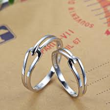 couples rings set images Interlocking couple promise rings set for women and men simple jpg