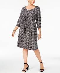 ny dress ny collection plus size pleated fit flare dress dresses plus