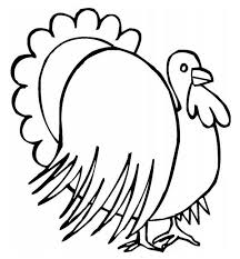 thanksgiving day turkey illustration coloring page
