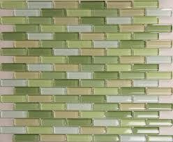 Glass Tiles For Kitchen Random Glass Tile Mosaic Bliss Elements - Green kitchen tile backsplash