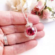 necklace flower handmade images Real rose necklace handmade real flower and nature inspired jpg