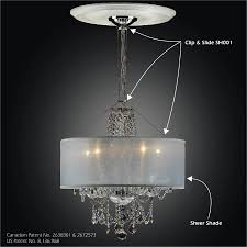 Drum Shade Chandelier Canada by How To Update A Chandelier With Shades U2013 Glow Lighting