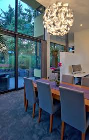 modern chandelier dining room large rectangle hanging capiz