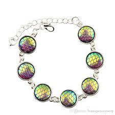 bracelet dragon rainbow images Mermaid scale bracelets dragon scales bracelets boho mermaid jpg
