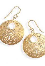 14 karat gold earrings 14 k gold dusky blue earrings
