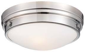 kitchen lighting flush mount light brass coastal glass gray