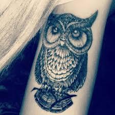 tattoo girl owl girl half sleeve nice owl tattoo idea golfian com