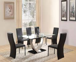 Frosted Glass Dining Room Table by Glass Dinner Table Glass Dining Room Table Set Home Design Ideas