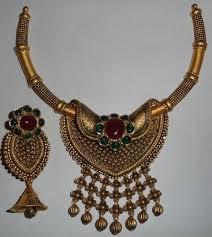 gold antique necklace set images Designer antique gold kundan necklace set agarwal co jaipur jpg
