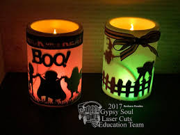 gypsy soul laser cuts easy halloween candles home decor by