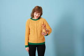 three tree sweater gold donna wilson