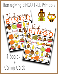 thanksgiving bingo free printable our thrifty ideas