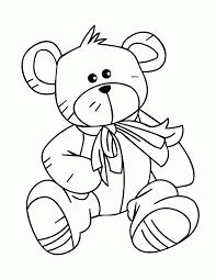 trendy printable bear coloring pages kids teddy print cute