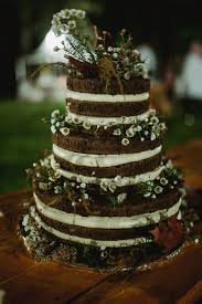 wedding cake sederhana pernikahan outdoor angela dan ajat di pine hill cibodas the