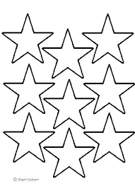 drawn shooting star cut out template pencil and in color drawn