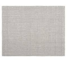jute rug chunky wool and jute rug gray ivory pottery barn