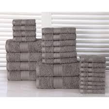Bathroom Towel Sets by 100 Percent Plush Cotton 24 Piece Economic Bath Towel Set On