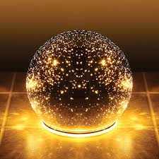 lighted mercury glass sphere 8 or 5 in silver battery