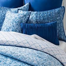 Quilted Duvet Cover King Dottie Painted Dot Quilted Duvet Set King 8 Piece Blue Target