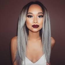1 bundle 8a granny silver gray ombre brazilian virgin remy hair