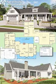 farmhouse plans with basement plan 64460sc modern farmhouse with optional finished lower level