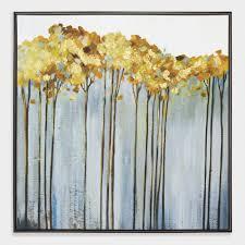 trees wall in black frame world market