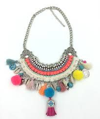bead charm necklace images New handmade bohemian boho choker necklaces harmony ball colorful jpg