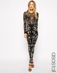 black and gold jumpsuit jumpsuit black gold asos embellished wheretoget