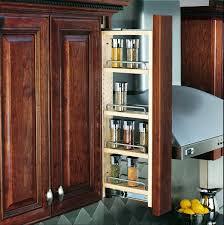 kitchen cabinet pull out shelf dark brown varnished walnut wood pull out kitchen cabinet shelves