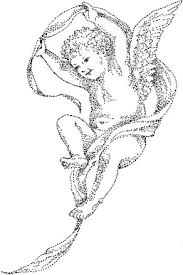 flying cherub baby angel tattoo design
